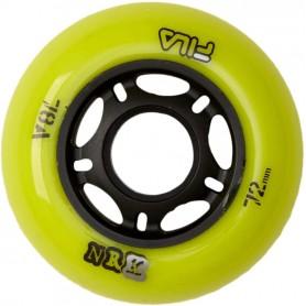 Fila Urban indoor wheels 80mm/78A Nero/Lime (confezione 8 ruote)