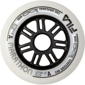 Fila wheels 80mm/82A x 8 Black/Black (confezione 8 ruote)