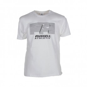 Russell Athletic R-STRIPED-S/S CREWNECK TEE SHIRT (001-UW)