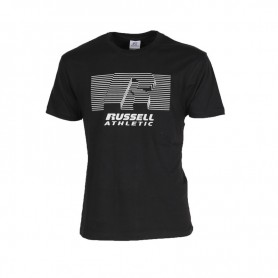 Russell Athletic R-STRIPED-S/S CREWNECK TEE SHIRT (099-IO)