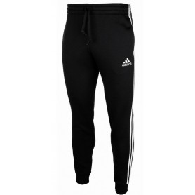 Adidas Essentials French Terry Tapered Cuff 3-Stripes Pants black/white