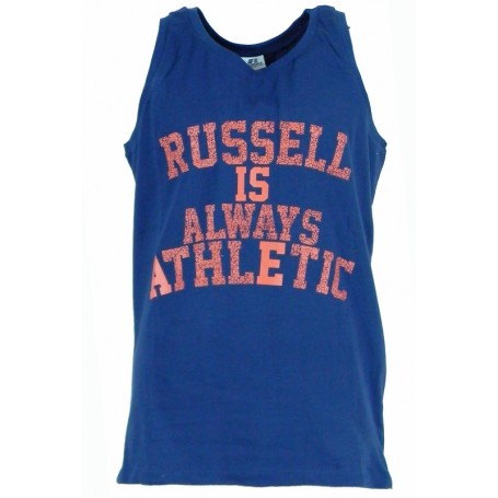 Russell Athletic A0-016 Canotta uomo RA MOTTO SINGLET Blu (190-NA Blue)