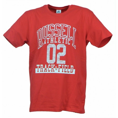 Russell Athletic A0-017 T-shirt uomoTRACK & FIELD S/S CREWNECK Rosso (424-CR Red)