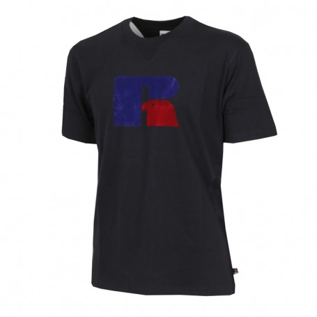 """Russell Athletic Eagle """"R"""" JERRY - TEE SHIRT Nero (099-IO)"""