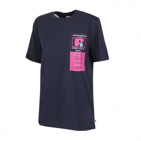 "Russell Athletic Eagle ""R"" SCOTT- TEE SHIRT Blu (190-NA)"