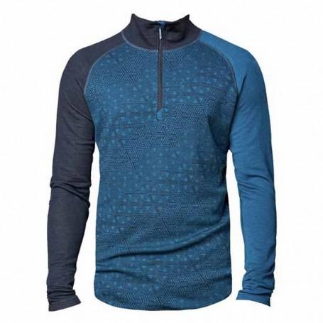 Bula t-shirt uomo GEOHALFZIP BLUE
