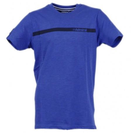 Admiral t-shirt stampa Jersey logo riga scritta Blue (Blue 005)