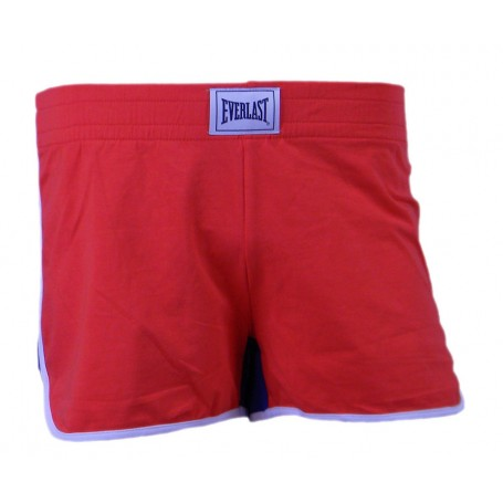 Everlast Short Donna Jersey Stretch Rosso Chiaro-Royal (5149 Red Clear /Royal)