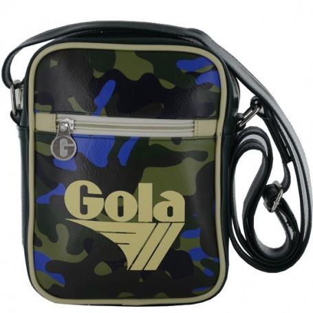 Borsa Tracolla Gola New Maclaine CUB937 MKII (Green/Dk Brown/Neon Blue) Multicolore