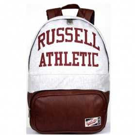 Zaino Scuola A6-372-2 Russell Athletic stanford jersy back-pack with applique Bianco/Marrone